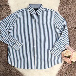 XL blue and white Ralph Lauren shirt